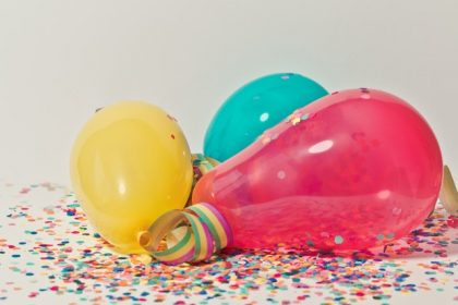 Ballonger i olika färger